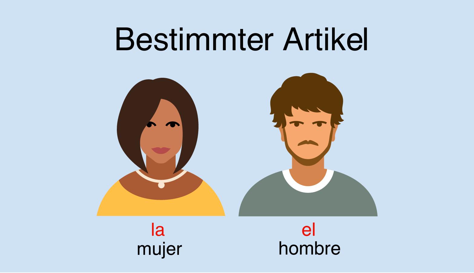 Bestimmte Artikel im Spanischen - el, la, los, las