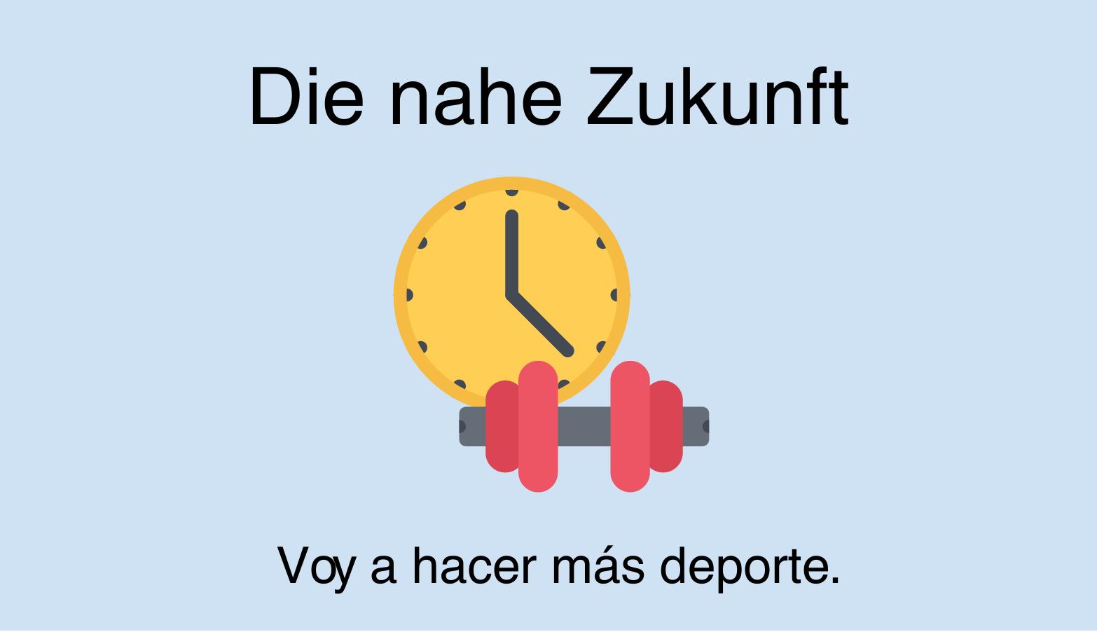 Futuro próximo im Spanischen (ir a + infinitivo)