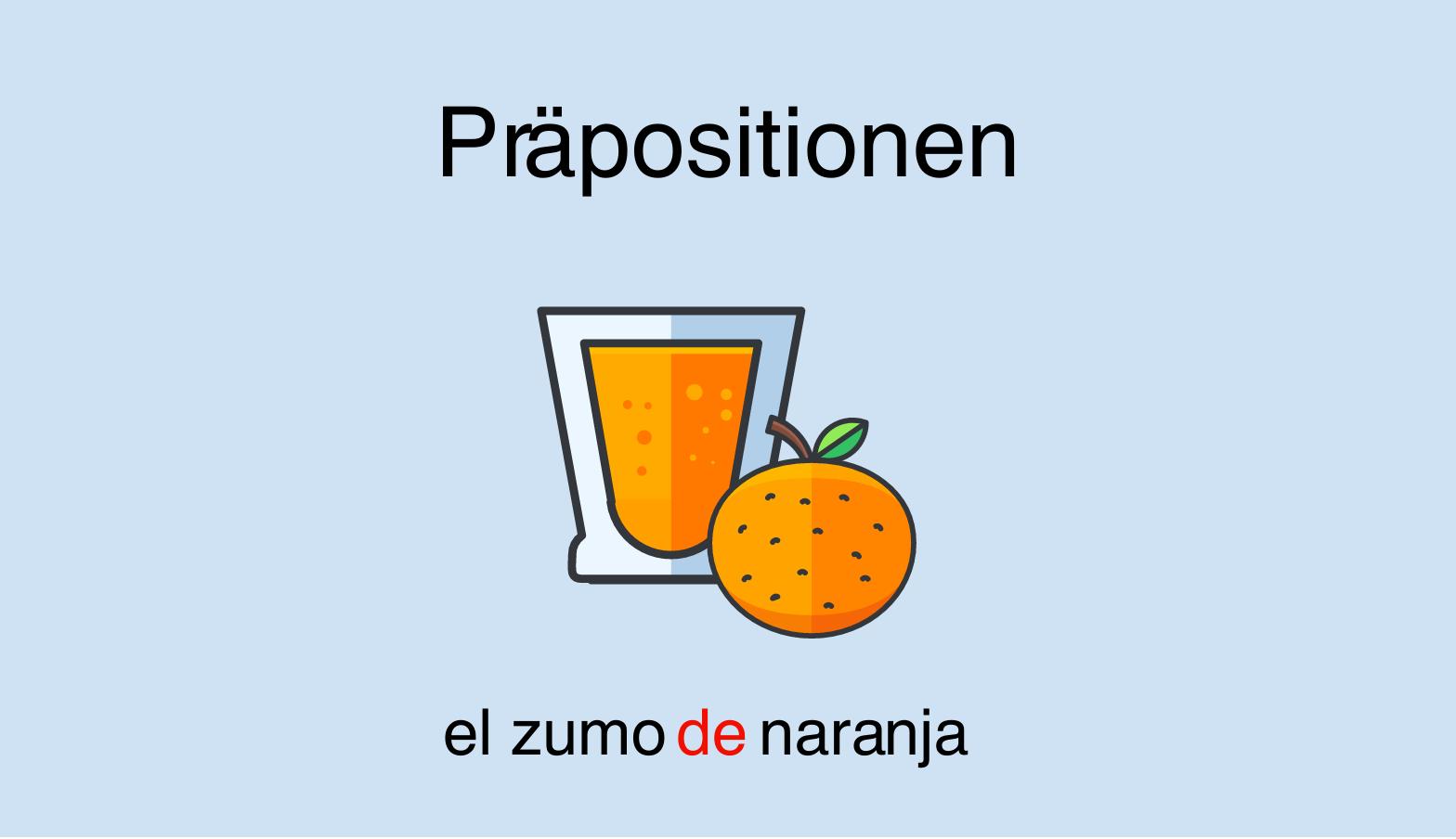 Spanische Präpositionen