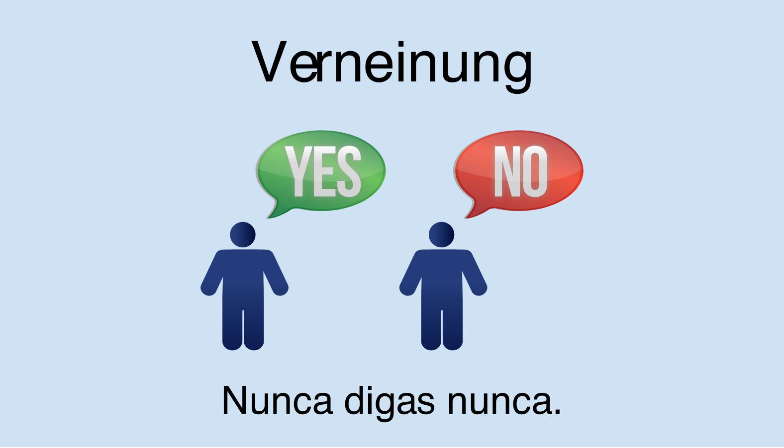 Verneinung im Spanischen
