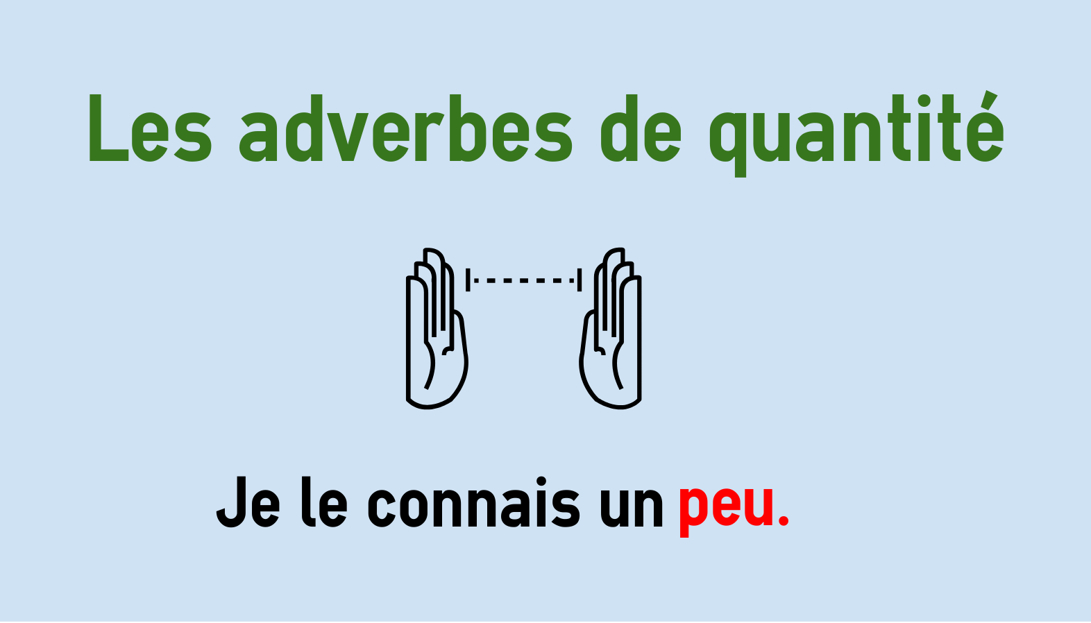 Adverbs Of Quantity In French