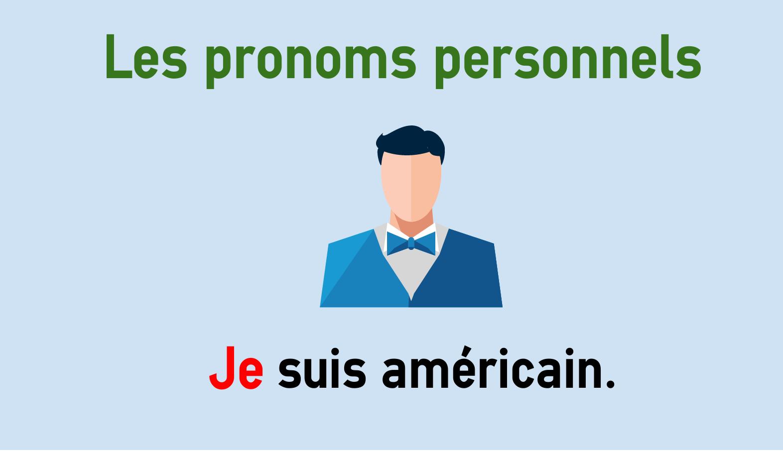 Französische Personalpronomen - je, tu, il