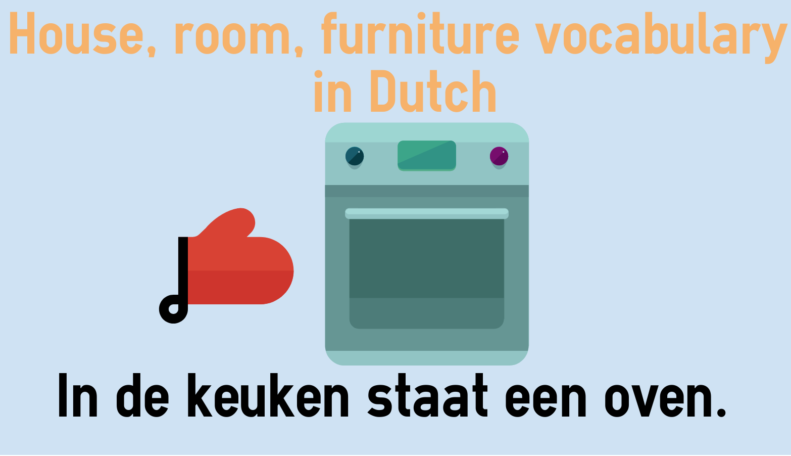 House, room, furniture vocabulary in Dutch
