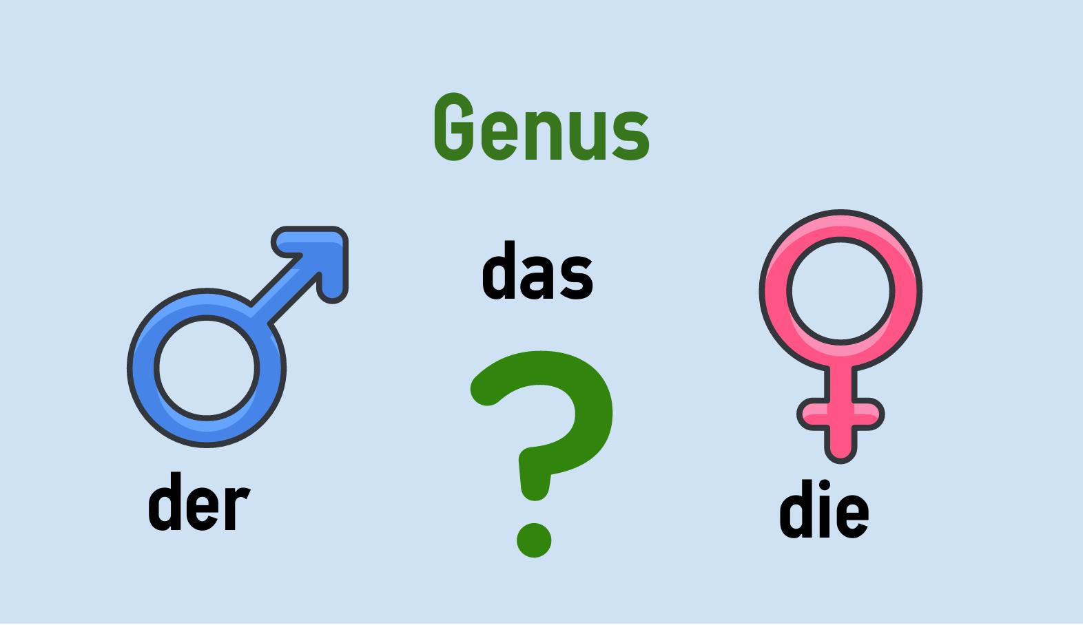 Genus (maskulin, feminin, neutral)