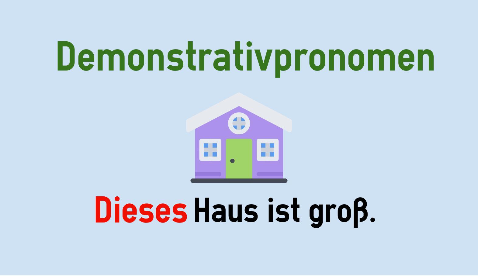 Deutsche Demonstrativpronomen