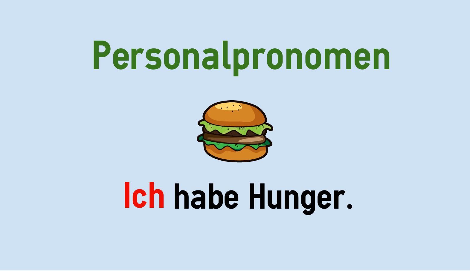 Deutsche Personalpronomen