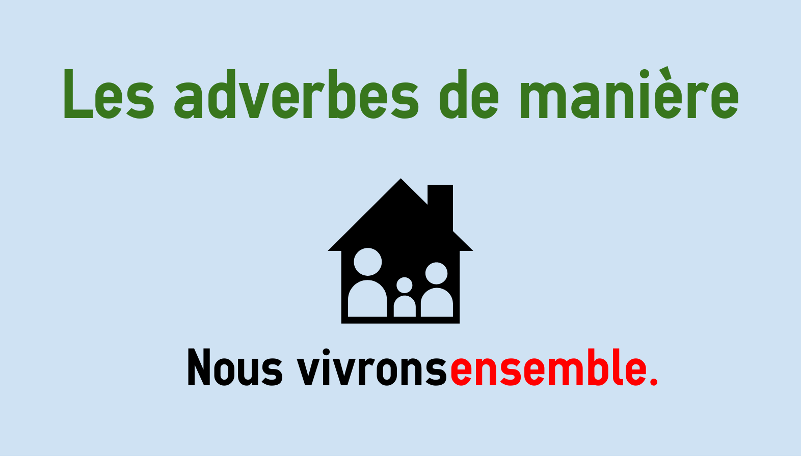 Adverbs Of Manner In French