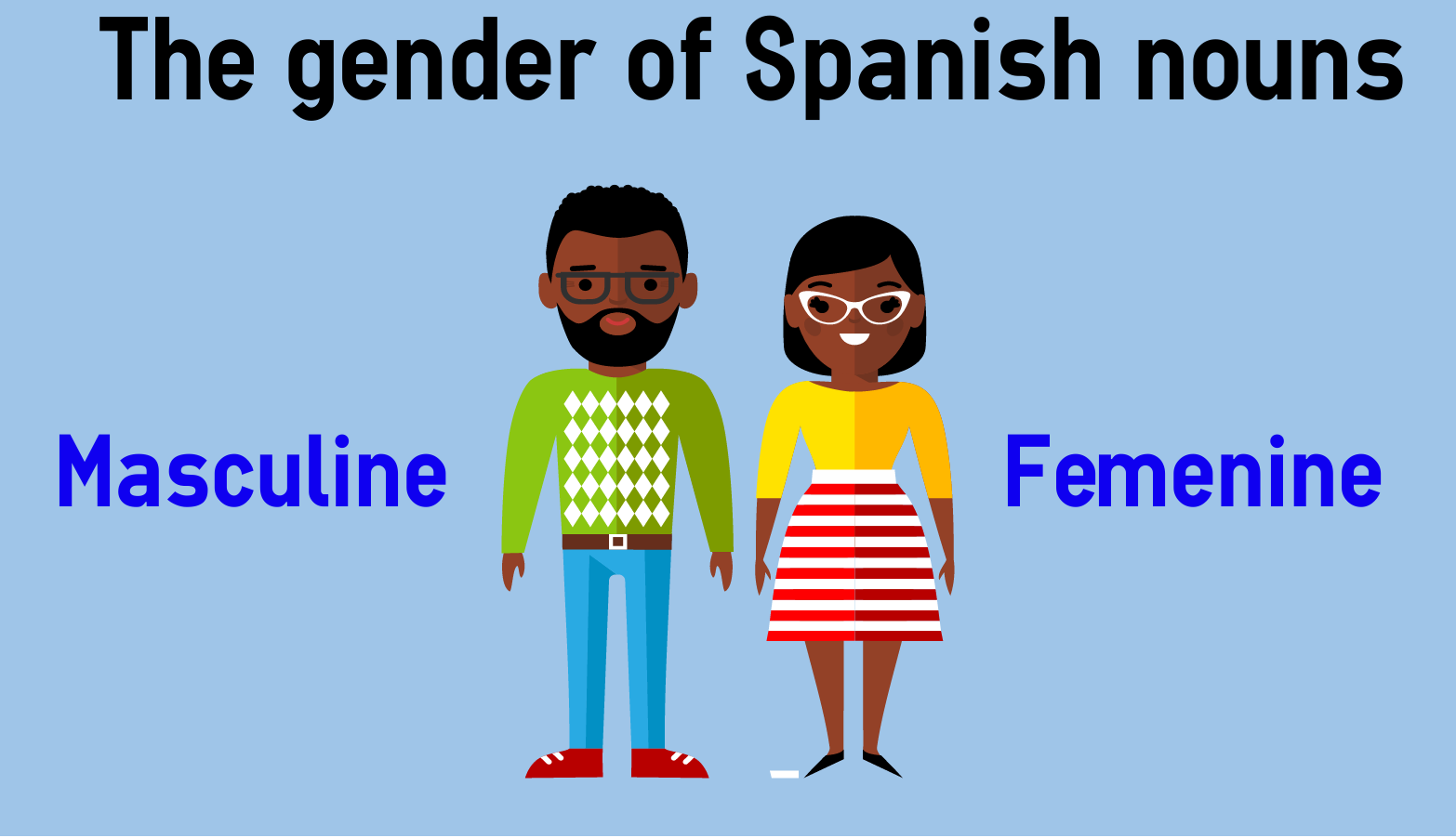 The Gender Of Spanish Nouns Masculine And Feminine