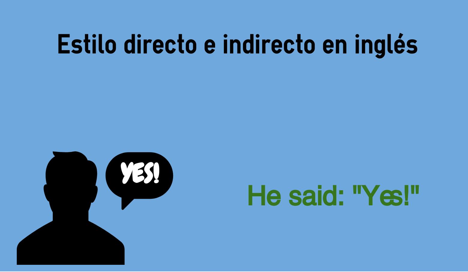 Estilo Directo E Indirecto En Inglés Reported Speech