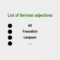 List of German Adjectives | coLanguage