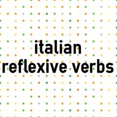 Italian reflexive verbs | coLanguage
