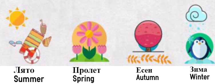 the seasons in Bulgarain